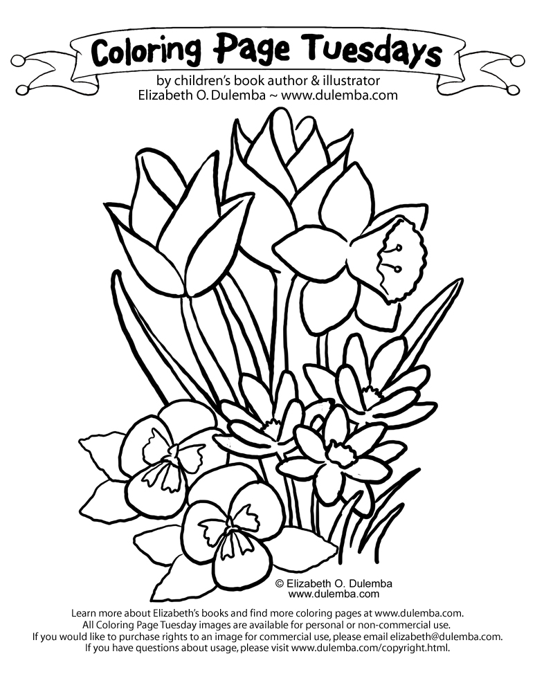 Spring Coloring Pages from Crayola