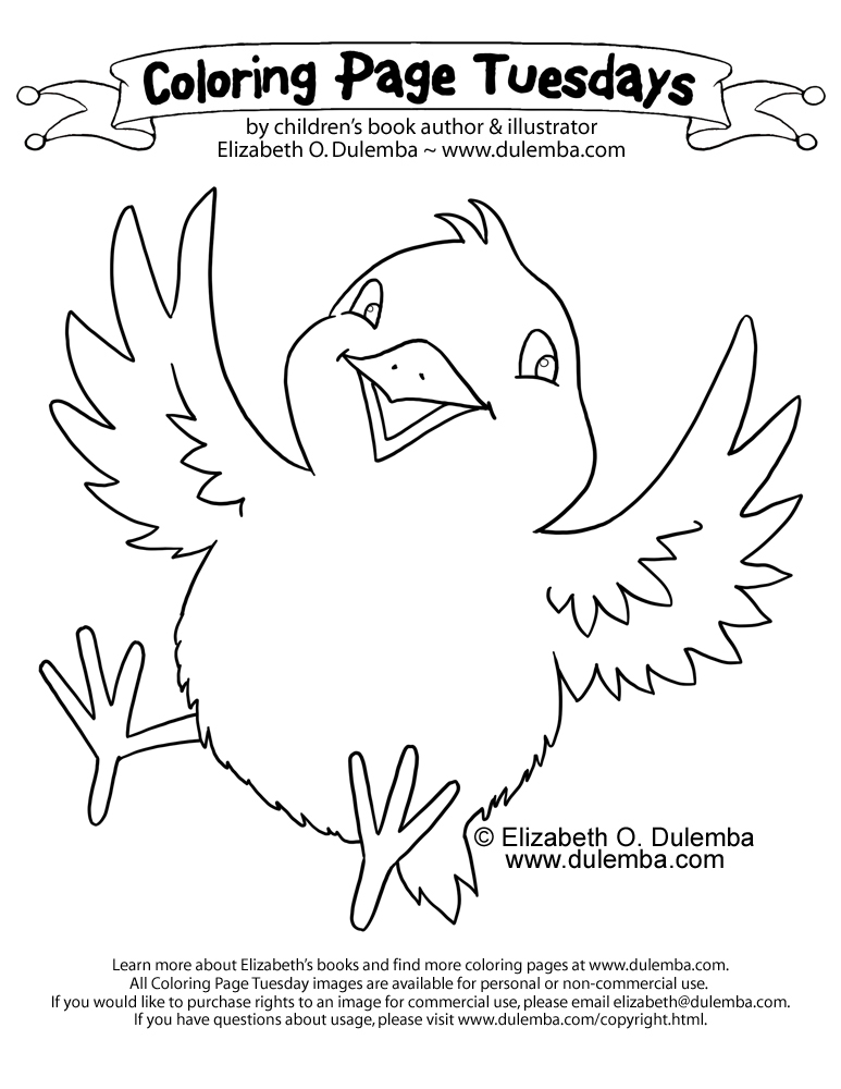 Dulemba Coloring Page Tuesday Spring Chicken