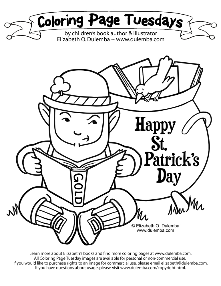 coloring page tuesdays st pattys 2011