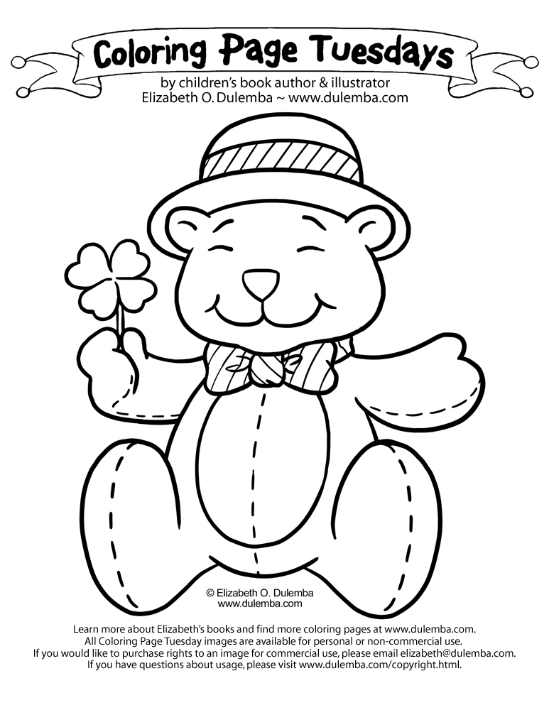 dulemba: Coloring Page Tuesday - St. Patty\'s Day 2012!