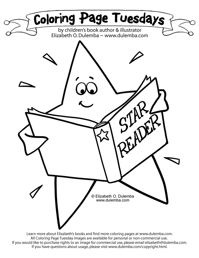 dulemba Coloring Page Tuesday Star Reader
