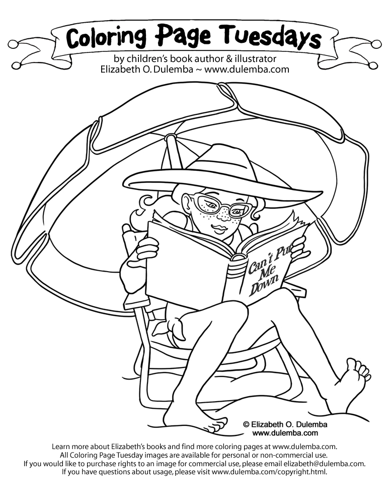 Coloring Page Tuesday - Summer Reading