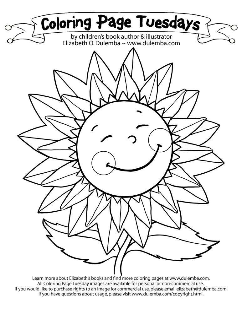 big sunflower coloring pages - photo#10