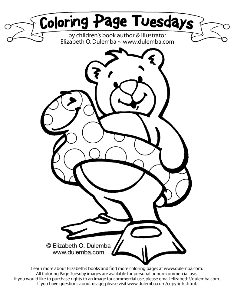 Here's a coloring page to suit the weather. I hope you're near water! title=