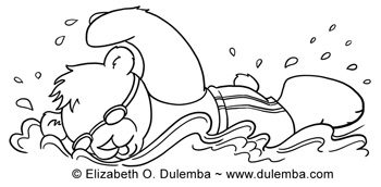 Coloring Page Tuesday - Olympic Swimmer!