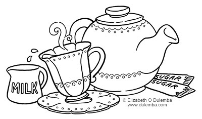 Coloring Page Tuesday   TEA!