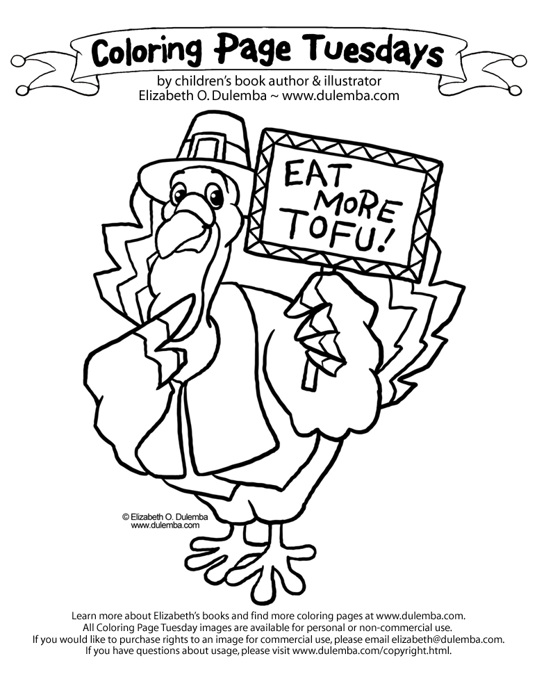 Coloring Page Tuesday! - Tofu Turkey