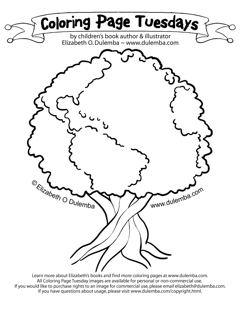 The Big Tree In Night Coloring Pages Trees Sketch Coloring Big Tree Coloring Page