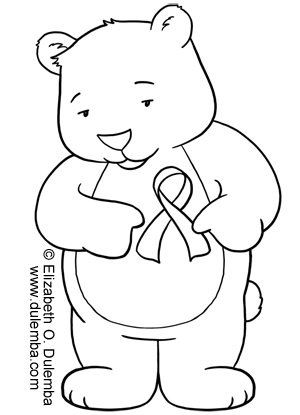 Breast Cancer Ribbon Coloring Page