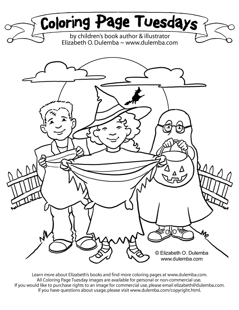 Coloring Page Tuesday: Trick-or-Treat!