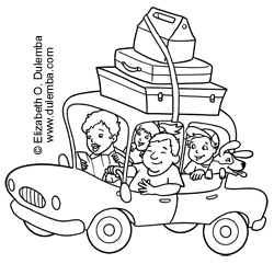 dulemba Coloring Page Tuesday Vacation