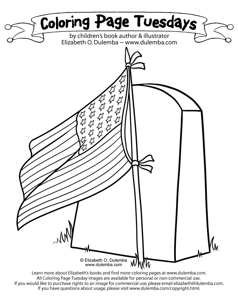 dulemba Coloring Page Tuesday  Veterans Day Tribute