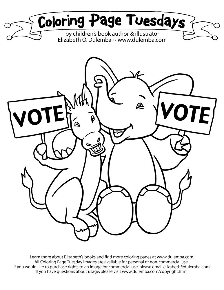 coloring pages vote - photo#9