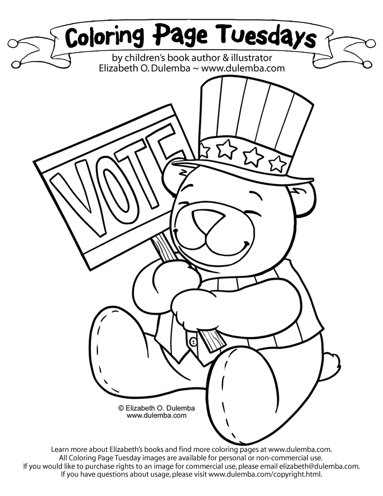 coloring pages vote - photo#8