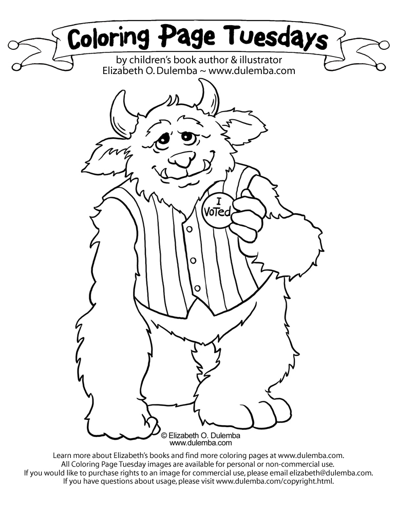 coloring pages vote - photo#27