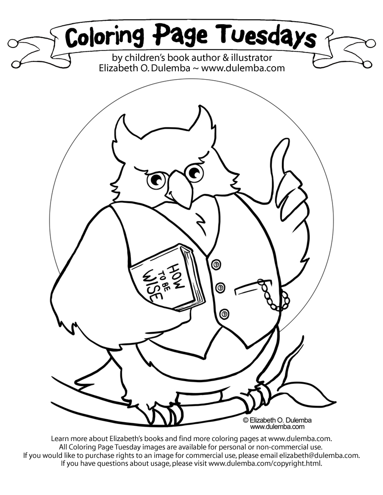 Every Wise Owl Knows Reading Is The Path To Wisdom Click Image Open A Print And Color Send Me Your Colored Version Less Than 1mb