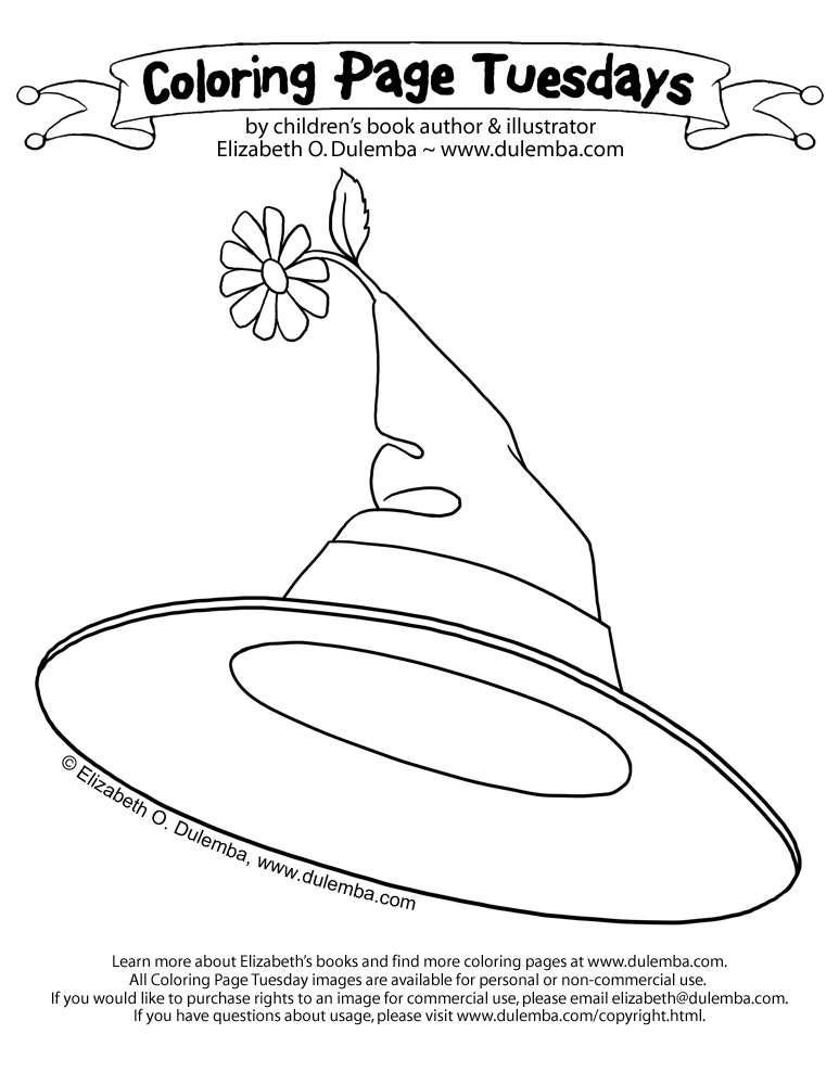 Dulemba Coloring Page Tuesday Witch Hat Witch Hat Coloring Page