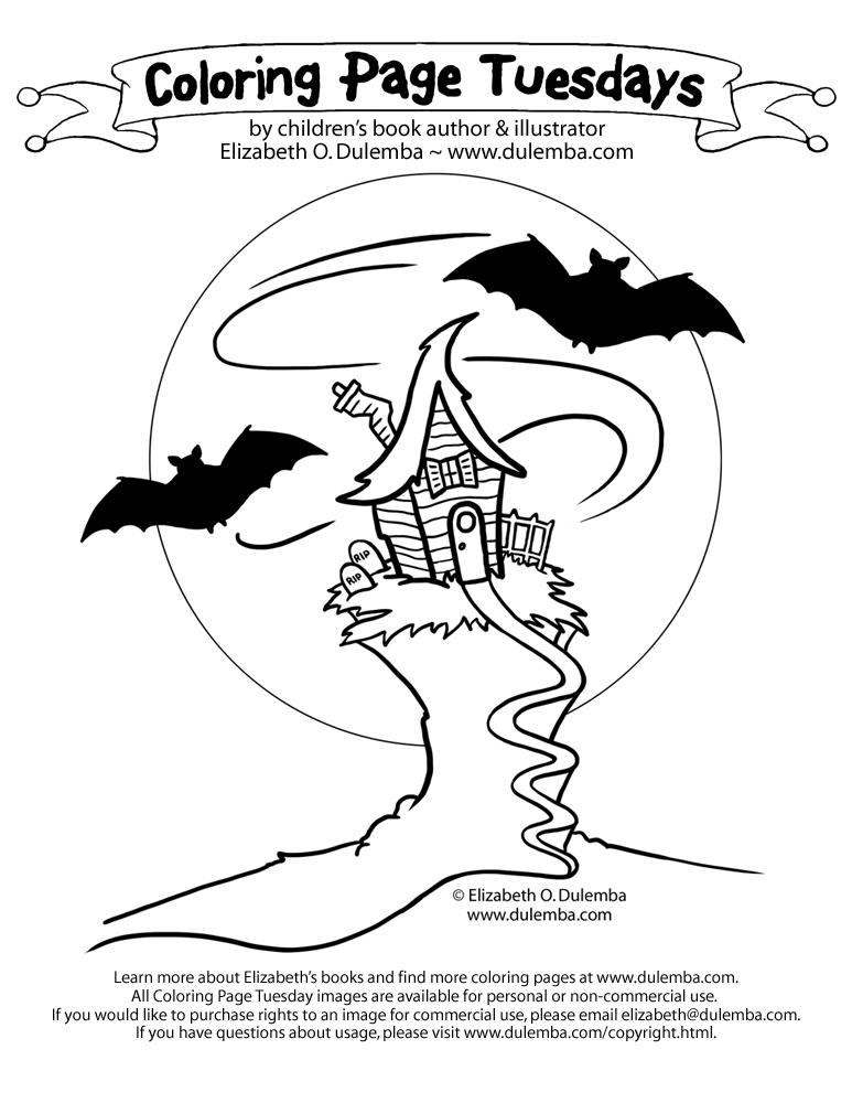 Bat Color Page