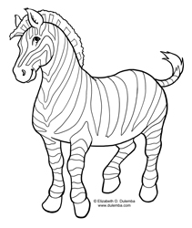 Coloring Page Tuesday - Zebra!