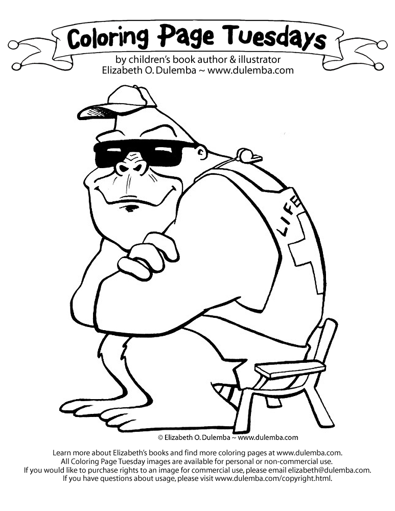 an oldie but still one of my faves the lifeguard click the image to open a jpg to print and color send it back small and low res and ill post it