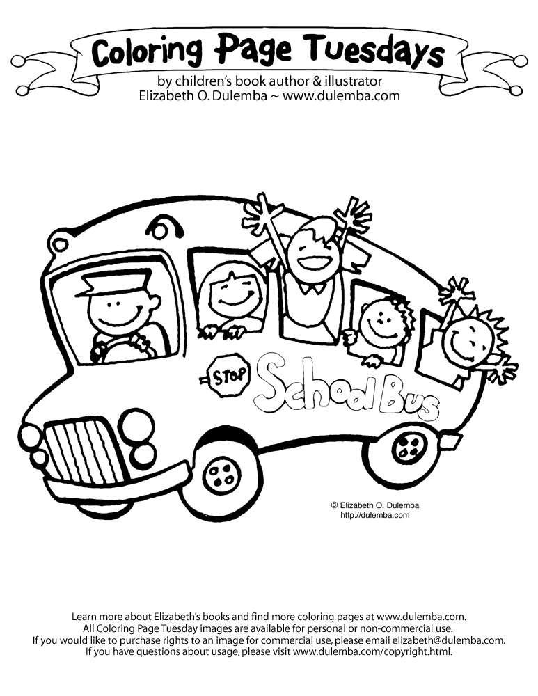 dulemba Coloring Page Tuesday Back to School