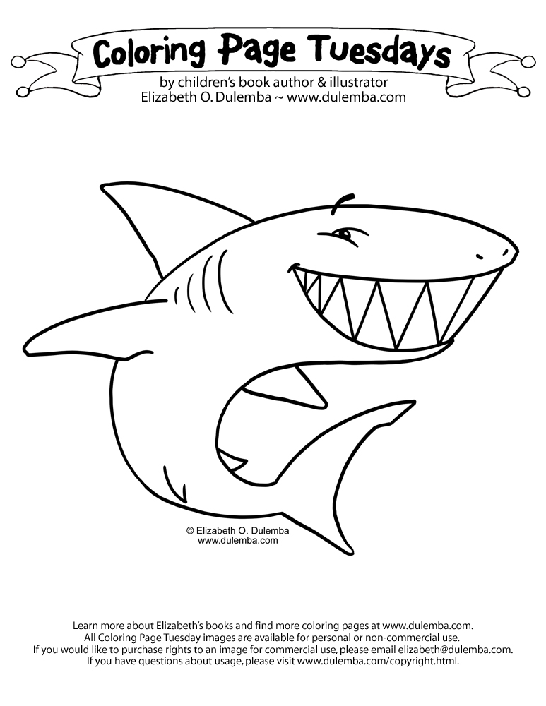 coloring pages shark.html