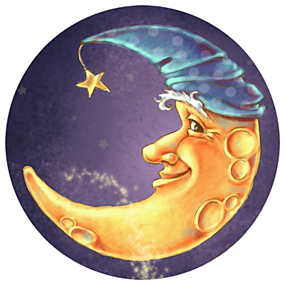 Dulemba Illustration Friday Moon