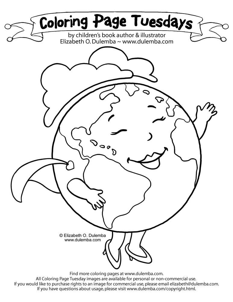 Dulemba Coloring Page Tuesday Earth Mother 2011